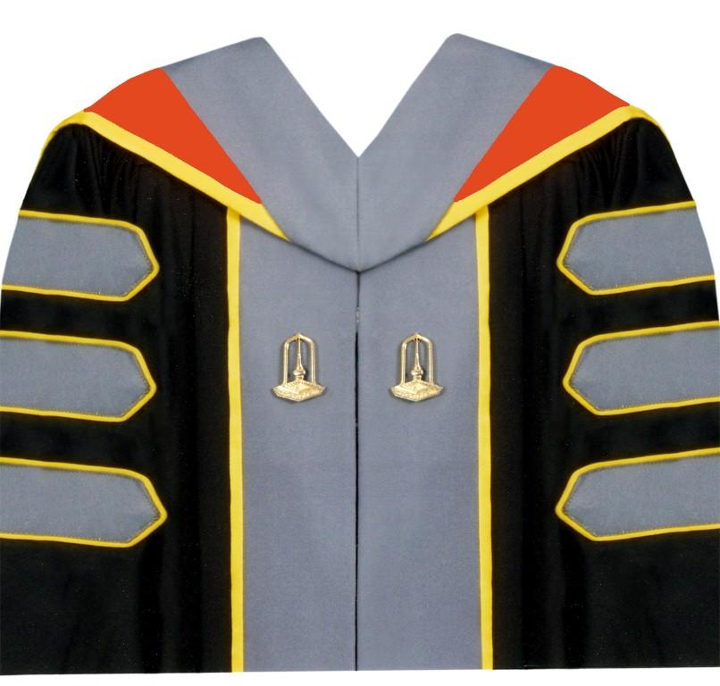 ชุดครุยหลักสูตรปรัชญาดุษฎีบัณฑิต  (ปร.ด.) คณะการบัญชีและการจัดการ สาขาวิชาการจัดการ