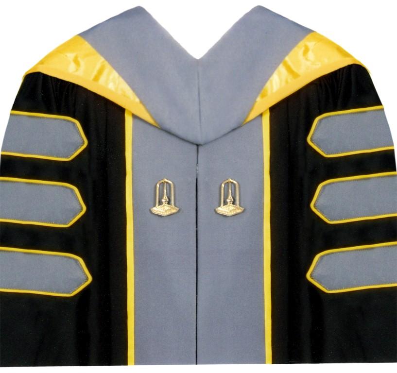 ชุดครุยหลักสูตรปรัชญาดุษฎีบัณฑิต  (ปร.ด.)  วิทยาลัยดุริยางคศิลป์ สาขาวิชาดุริยางคศิลป์